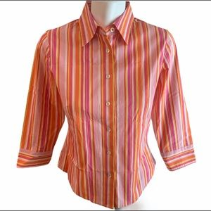 J.Crew - Orange/Pink/Yellow - Button Up - Size X-S